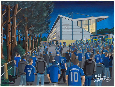 Halifax Town The Shay Stadium Framed High Quality Art Print