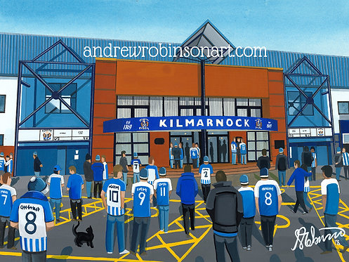 Kilmarnock F.C, Rugby Park Stadium High Quality framed Giclee Art Print