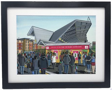 Harlequins, Twickenham Stoop Stadium. Framed High Quality Art Print
