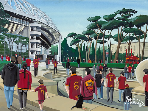 Roma, Stadio Olimpico. Framed High Quality Art P