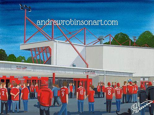 Crawley Town F.C Broadfield Stadium High Quality Framed Artists Proof Print