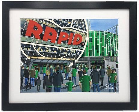 Rapid Vienna, Allianz Stadion. Framed High Quality Art Print