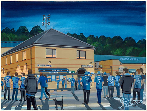Wycombe Wanderers FC Adams Park Stadium High Quality Framed Artists Proof Print