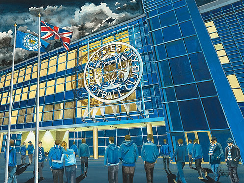 Leicester City F.C, King Power Stadium Framed Art Print.