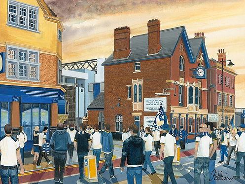 Tottenham Hotspur F.C, White Hart Lane Stad High Quality Framed Giclee Art Print