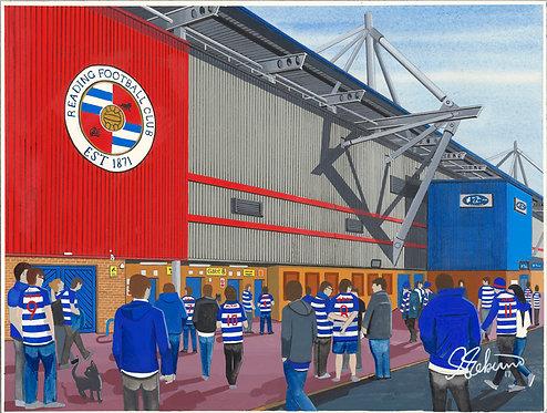 Reading F.C Madejski Stadium Framed High Quality Art Print