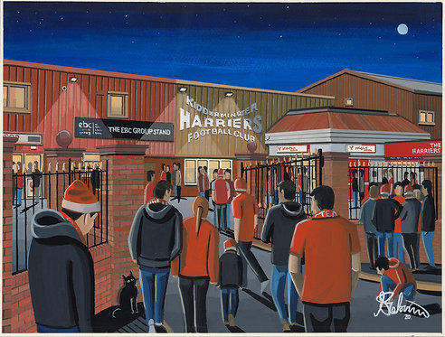 Kidderminster Harriers F.C, Aggborough Stadium. Framed High Quality Art Print