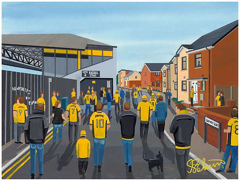 Newport County A.F.C Rodney Parade High Quality Framed Artists Proof Print