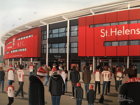 """Sauntering Saints"". St. Helens R.F.C, Totally Wicked Stadium."