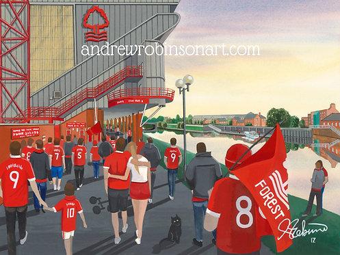 Nottingham Forest F.C, The City Ground Stadium High Quality Framed Art Print