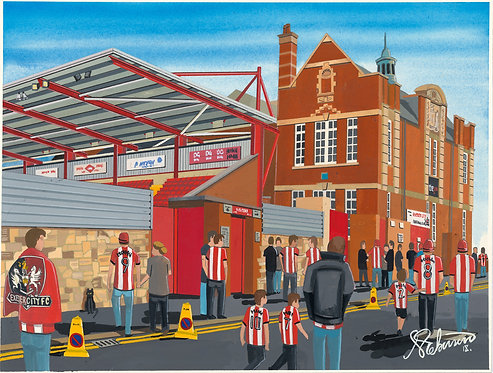 Exeter City FC St. James's Park Stadium High Quality Framed Print