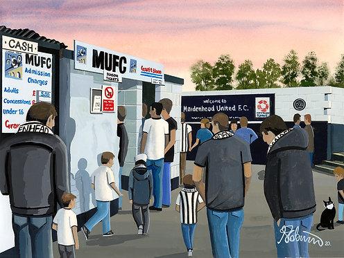 Maidenhead United F.C York Road Stadium Stadium Framed High Quality Art