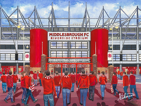 Middlesbrough F.C, Riverside Stadium High Quality Framed Giclee Art Print