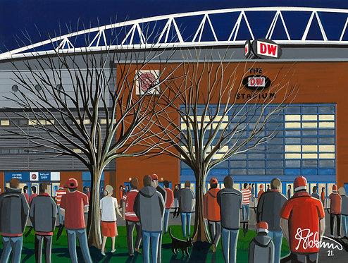 Wigan Warriors, DW Stadium. Framed High Quality Art Print