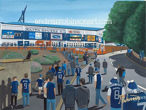 Raith Rovers F.C Stark's Park Stadium. Framed High Quality Art P