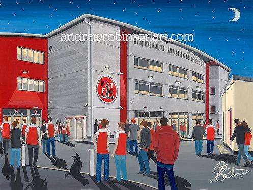 Fleetwood Town FC Highbury Stadium High Quality Framed Print