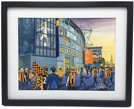 Hull City A.F.C, KCOM Stadium High Quality Framed Giclee Art Print