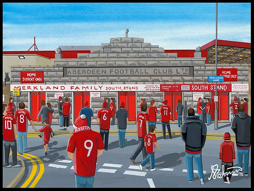 Aberdeen FC, Pittodrie Stadium Framed High Quality Art Print