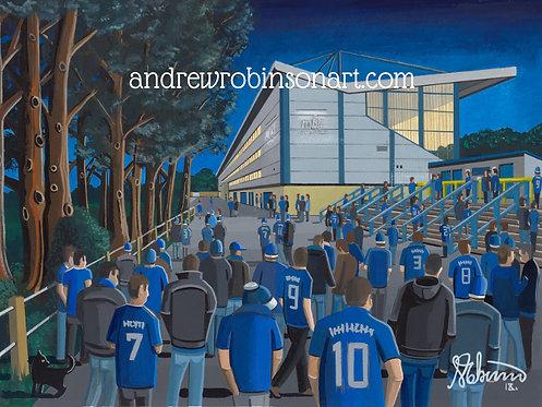 Halifax Town The Shay Stadium Framed High Quality Art Print