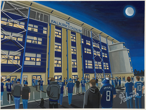 Falkirk F.C, Falkirk Stadium. Framed High Quality Art Print
