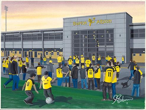 Burton Albion FC Pirelli Stadium High Quality Framed Artists Proof Print