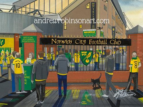 Norwich City F.C, Stadium High Quality Framed Giclee Art Print