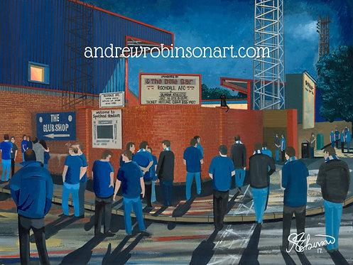 Rochdale A.F.C,  Spotland Stadium High Quality Framed Print