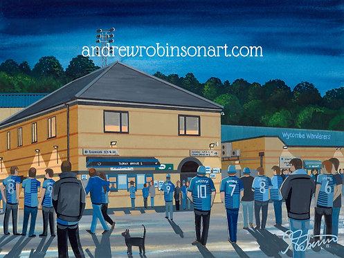 Wycombe Wanderers FC Adams Park Stadium High Quality Framed Print