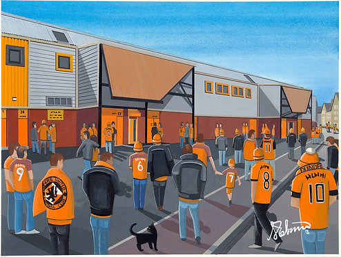 Dundee United F.C Tannadice Park Stadium. Framed High Quality Art Print