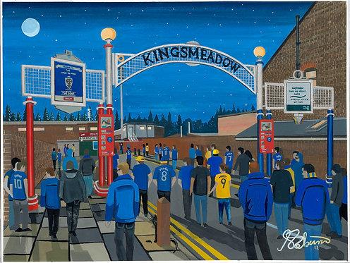 AFC Wimbledon Kingsmeadow Stadium High Quality Framed Print