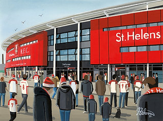 St Helens Totally Wicked Stadium Framed High Quality Art Print