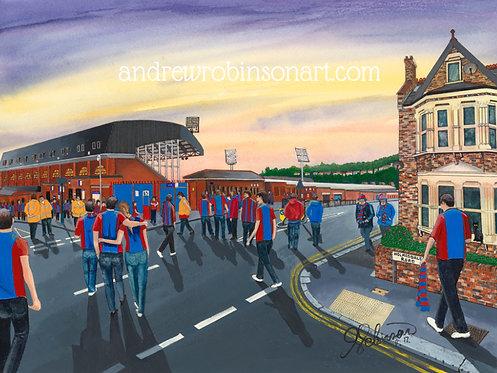 Crystal Palace F.C, Selhurst Park Stadium High Quality Framed Giclee Art Print