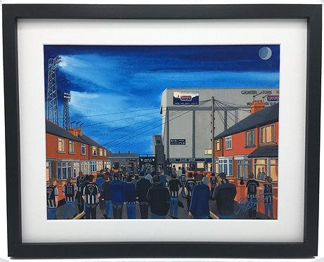 Grimsby Town FC Blundell Park Stadium High Quality Framed Print