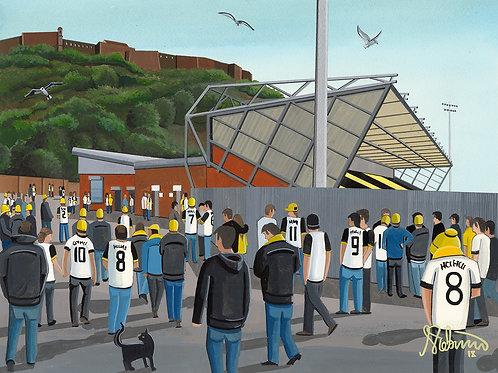 Dumbarton F.C, Dumbarton Football Stadium Framed High Quality Art