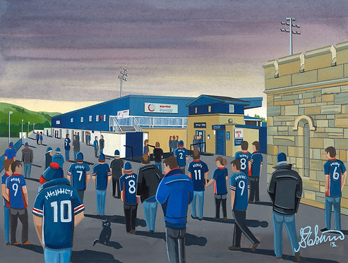 Ross County Victoria Park Stadium Framed High Quality Art Print