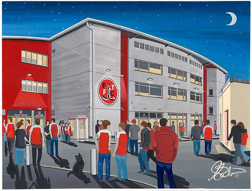 Fleetwood Town FC Highbury Stadium High Quality Framed Print