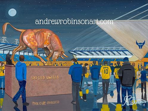 Oxford United Kassam Stadium High Quality Framed Art Print