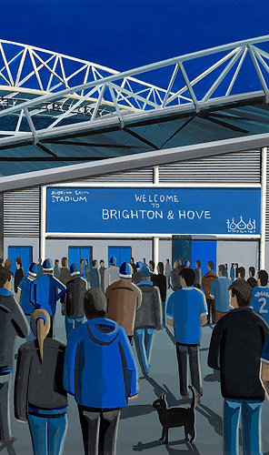 Brighton & Hove Albion Amex Stadium Stadium Framed High Quality Art Print