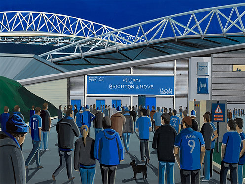 Brighton & Hove Albion Amex Stadium Stadium Framed High Quality Art Print