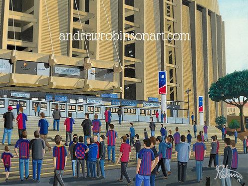 Barcelona F.C. Camp Nou High Quality Framed Art Print