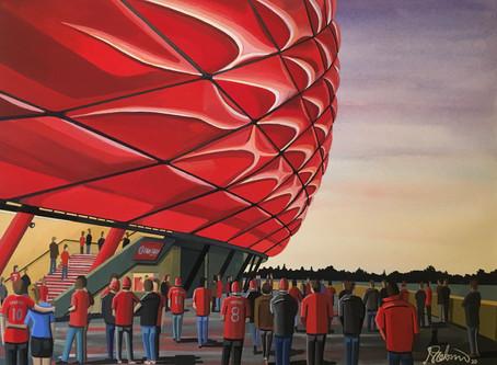 Münchners Muster. Bayern Munich, Allianz Arena.