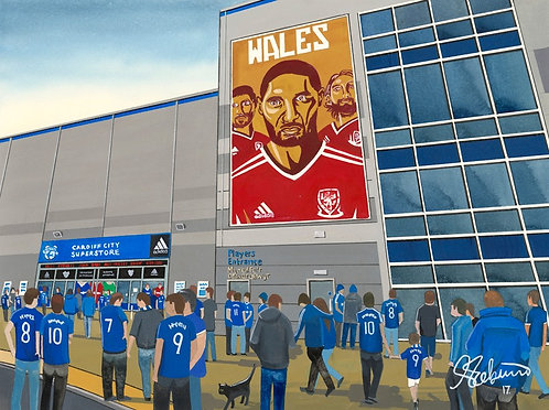 Cardiff City F.C, Cardiff City Stadium High Quality Framed Giclee Art Print