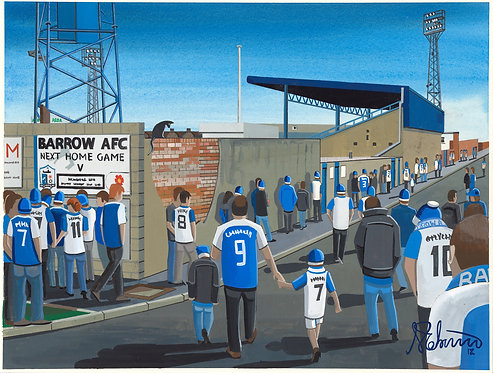 Barrow A.F.C Holker Street Stadium Framed High Quality Art Prin