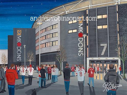 Mk Dons FC Stadium MK High Quality Framed Print