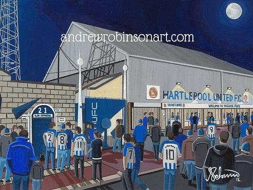 Hartlepool Utd, Victoria Park Stadium Framed High Quality Art Print