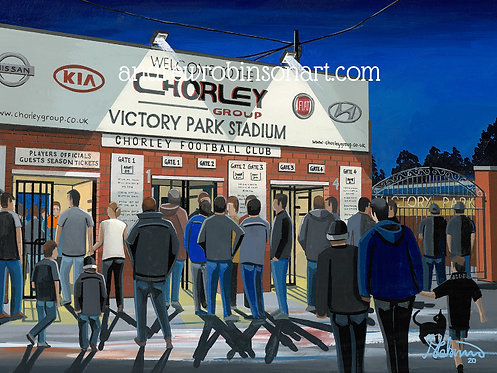 Chorley F.C, Victory Park Stadium Framed High Quality Art Print