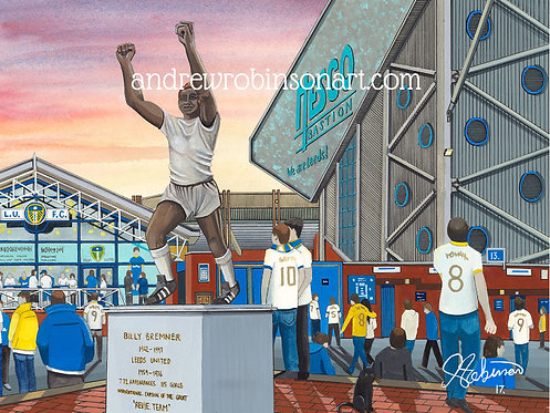 Leeds United A.F.C, Elland Road Stadium High Quality Framed Giclee Art Print