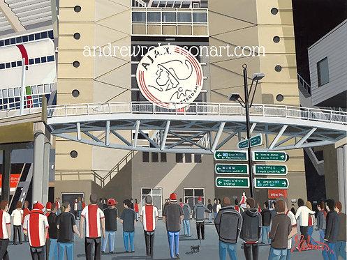 Ajax Yohan Cruyff Arena High Quality Framed Art Print