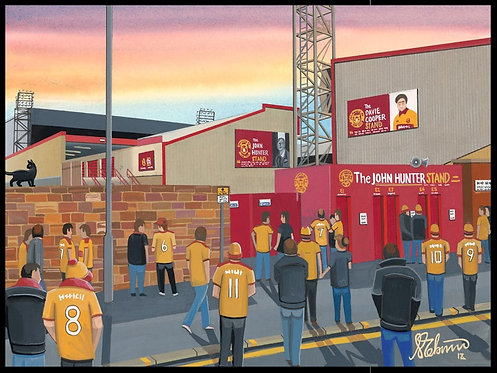 Motherwell F.C, Stadium High Quality Framed Artists Proof Print