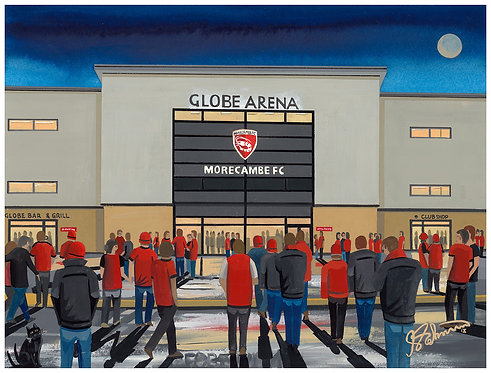 Morecambe F.C Globe Arena High Quality Framed Art Print